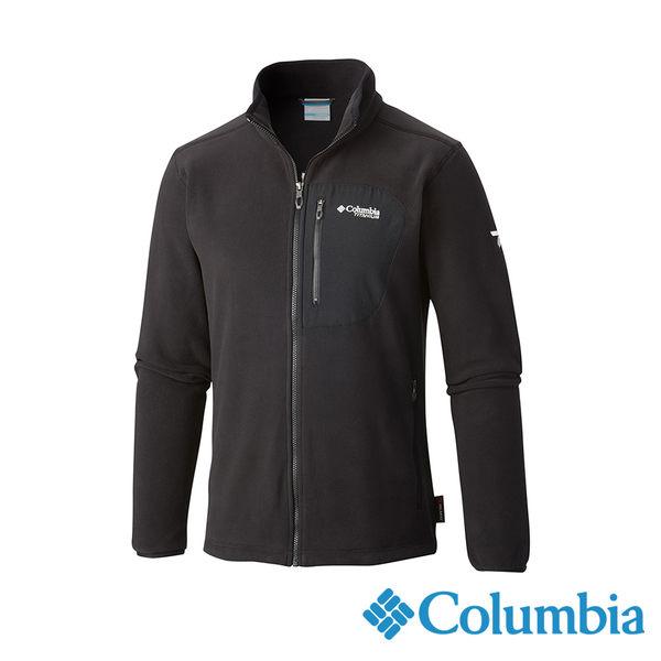 Columbia 男 鈦PL200刷毛外套-黑色 【GO WILD】