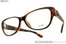 GUCCI 光學眼鏡 GG3728F Q18 (琥珀棕) 金球鏤空貓眼款 #金橘眼鏡