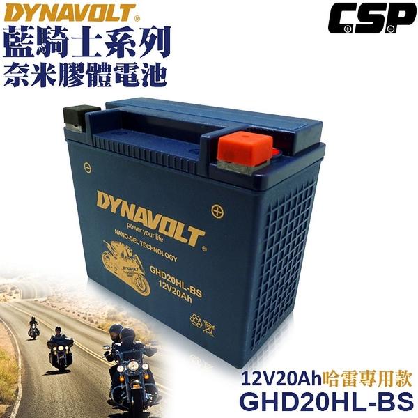 【MotoGP】DYNAVOLT藍騎士/GHD20HL-BS膠體電池/機車電瓶