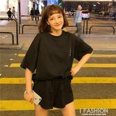 夏裝2018新款韓版女裝學生短袖衛衣 寬鬆短褲休閒運動兩件套裝潮·Ifashion