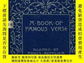 二手書博民逛書店A罕見BOOK OF FAMOUS VERSE - A Volu