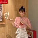 純棉短袖 含棉短袖T恤女夏季新款韓版體恤純色寬鬆韓版