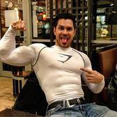雙十二狂歡購肌肉兄弟秋季健身服彈力訓練緊身衣速干透氣跑步運動長袖T恤男