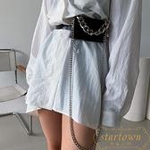口紅包女粗鏈條腰帶可拆卸腰包斜挎胸包【繁星小鎮】