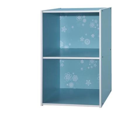[ 家事達 ] SA-1200-BL 《COLOR BOX》二格收納櫃 -天空藍x2個  特價