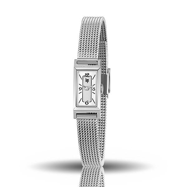 【lip】Churchill典藏方形時尚米蘭石英腕錶-亮眼銀/671227*/台灣總代理公司貨享兩年保固