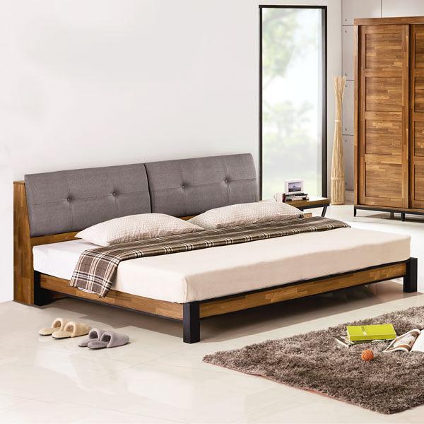 YoStyle 洛基工業風床架組(含床頭箱)-雙人加大6尺 床組 房間組 專人配送