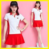 店長推薦新款羽毛球服女運動裙套裝夏季球服女網球裙短袖褲裙網球服休閒裝