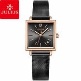 JULIUS 聚利時 典藏記憶復古米蘭錶帶腕錶-氣質黑/24mm【JA-1083E】
