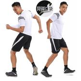 運動套裝新款夏季寬鬆版跑步健身吸汗透氣訓練服 JD4949【KIKIKOKO】