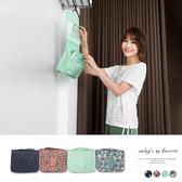 《ZB0046》懸掛式可愛印花旅遊收納包.4色 OrangeBear