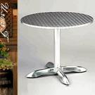圓型餐桌80CM鋁製圓桌(鋁全包邊)圓茶...