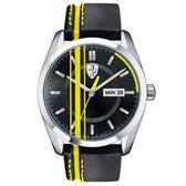 【僾瑪精品】Scuderia Ferrari 法拉利 皮帶時尚賽車腕錶-50mm/FA0830234
