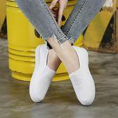 護士鞋女加絨白色老北京布鞋2018新款美容鞋平底軟底小白鞋女 享購