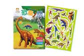 恐龍世界貼紙書 (77張可重複黏恐龍貼,七款小遊戲)【不適館藏】