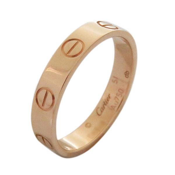 Cartier 卡地亞 LOVE系列玫瑰金戒指 51號 K18PG LOVE Wedding Ring【BRAND OFF】