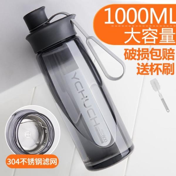 初臣大容量塑料太空杯健身杯子男女運動水杯便攜夏天學生茶杯水壺 「特惠熱銷」