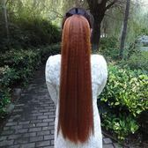 假髮 玉米須假髮馬尾 玉米燙超蓬鬆馬尾方便面燙馬尾辮 長款假髮 【中秋節禮物八折搶購】