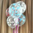 12吋 圓點透明氣球 普普風格 裝飾氣球...