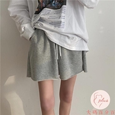 運動短褲女顯瘦夏季薄款高腰寬松短褲闊腿褲【大碼百分百】