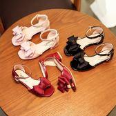 女童涼鞋潮兒童涼鞋小女孩軟底高跟鞋韓版露趾公主鞋吾本良品