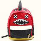 韓國Lemoinkid卡通鯊魚雙肩背包/書包-小款 紅色【K508124-2】