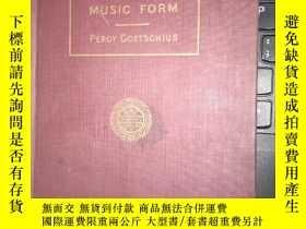 二手書博民逛書店lessons罕見in music form 清代或民國 存世量