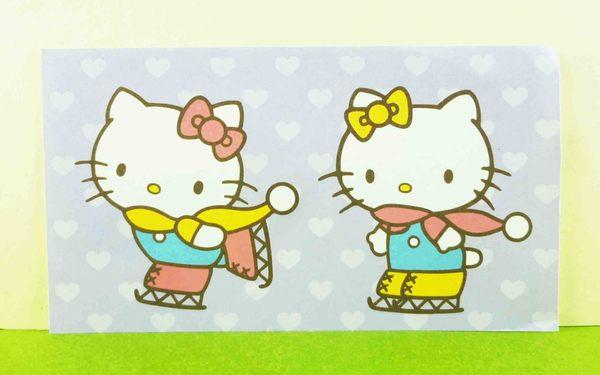 【震撼精品百貨】Hello Kitty 凱蒂貓~卡片-滑雪紫