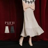 現貨◆PUFII-中長裙 百摺天鵝絨蛋糕中長裙-1219 冬【CP17777】