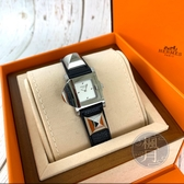 BRAND楓月 HERMES 愛馬仕 ME3.210 MEDOR 系列 金屬 黑色 牛皮 鉚釘 腕錶 手錶