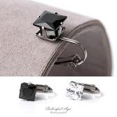 夾式耳環閃耀動人鋼製8MM 方形奧地利水鑽耳環抗過敏精緻單品【ND365 】單支售價