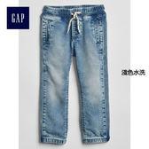 Gap男嬰幼童 舒適彈力緊身束口牛仔褲 213943-淺色水洗