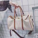 行李袋 短途純色旅游包包女大容量手提簡易...