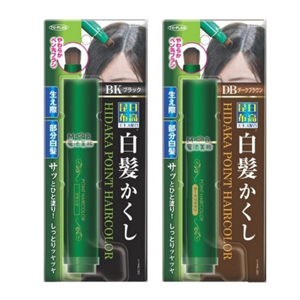 日本製 TO-PLAN 日高 利尻昆布無添加快速補染染髮筆 染髮筆 20ml