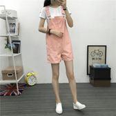 吊帶寬褲夏季新款修身顯瘦休閒褲子 JD3594【KIKIKOKO】