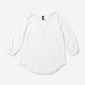 HURLEY|女 SOLID V NECK TUNIC 罩衫