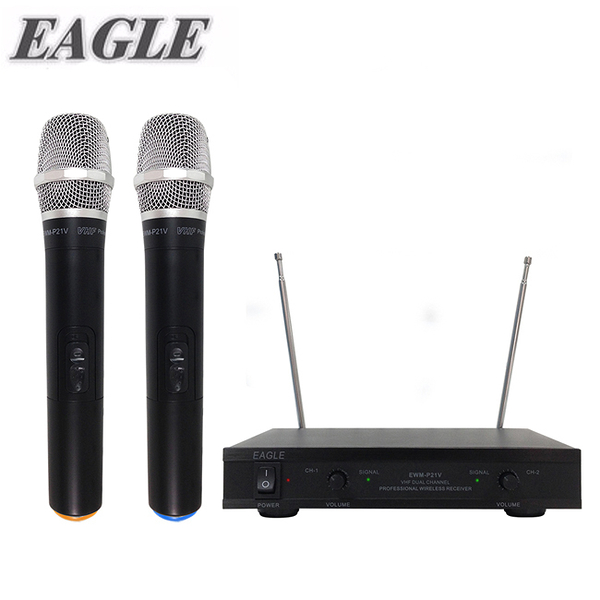 送Ardi手機藍芽遙控器/【EAGLE】專業級雙頻無線麥克風組(EWM-P21V)