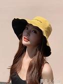 漁夫帽女日系網紅款雙面遮陽帽防曬防紫外線帽子大沿帽夏季太陽帽 錢夫人小鋪