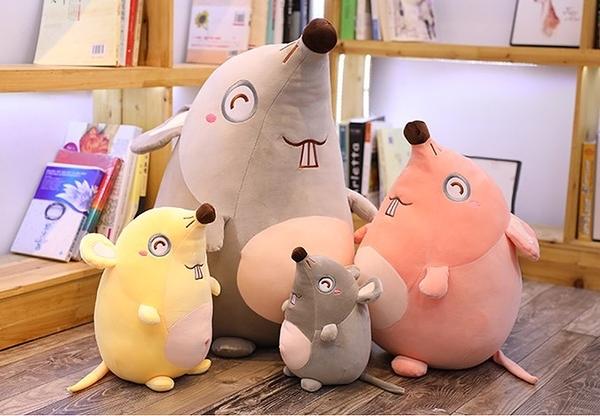 【45公分】暴牙老鼠娃娃 玩偶 公仔 聖誕節交換禮物 生日禮物 鼠年行大運