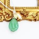 【粉紅堂 飾品】淡雅東陵石項鍊*綠色*