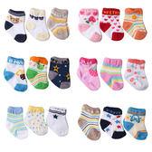 寶寶襪3入組 新生兒 襪子 純棉 卡通襪 透氣 地板襪 男寶寶 女寶寶 Augelute 45019