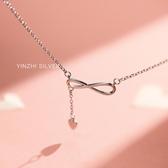 S925銀項鏈女設計感小眾鎖骨鏈氣質韓版簡約個性飾品Mandyc