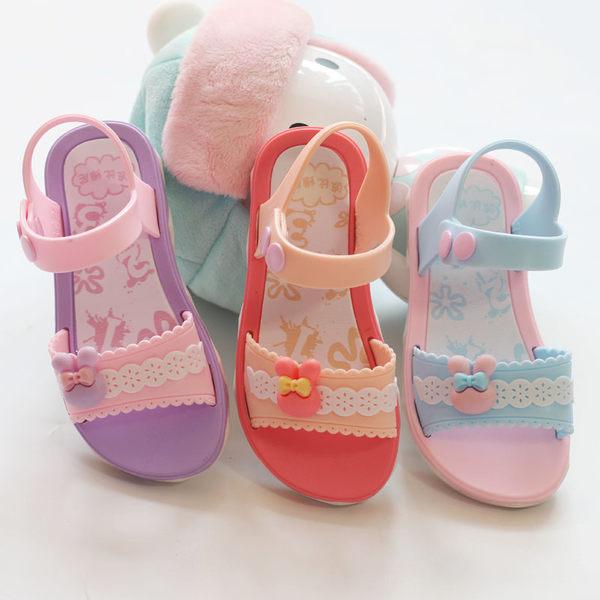 女童涼鞋2018夏季新款沙灘鞋兒童塑料涼鞋女孩中小童鞋韓版公主鞋  八折免運 最後一天