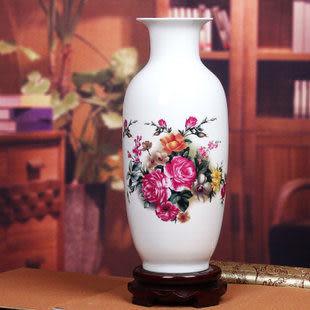 景德鎮陶瓷器薄胎瓷粉彩花瓶