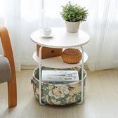現代簡約創意臥室移動小茶几圓形方形迷你客廳沙發邊几櫃角几邊桌 最後一天85折