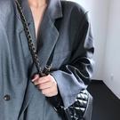 上新包包女包新款時尚菱格黑色流浪包復古簡約百搭鏈條單肩斜背包-Ballet朵朵