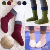 女童堆堆襪純棉3-5-7-9歲中筒襪加絨加厚保暖毛圈襪兒童襪 晴天時尚館