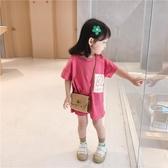 女童T恤女童中長款T恤夏裝新款女寶寶平安喜樂上衣兒童卡通短袖T恤裙【快速出貨八折下殺】