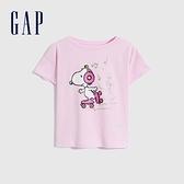 Gap女童 Gap x Snoopy 史努比系列純棉短袖T恤 701047-淡粉色