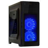 【台中平價鋪】全新YAMA 雙龍 USB3.0 電腦機殼 內含2個藍光LED風扇